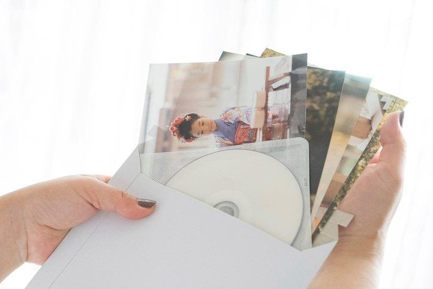 お手元に届くプリントとデータCD-Rのイメージ
